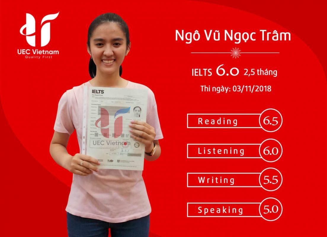 NGO VU NGOC TRAM - Học IELTS online - Học IELTS - Luyện thi IELTS ở tại Đà Nẵng - Anh Ngữ UEC