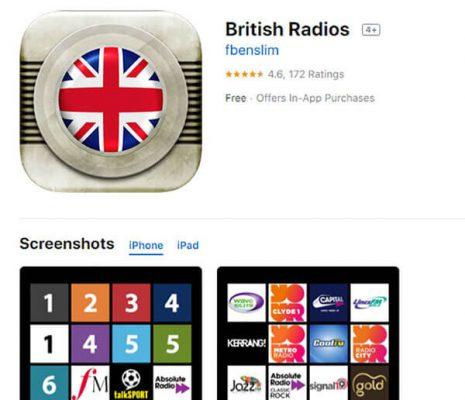 App British Radios