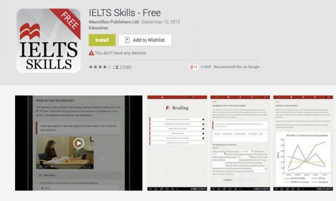 App nâng IELTS Skills