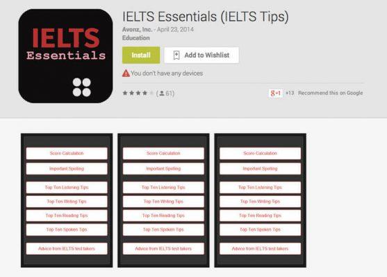 App IELTS Essentia