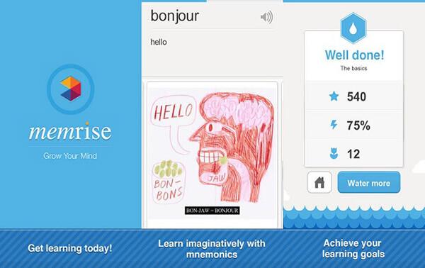 App học ngôn ngữ Memrise