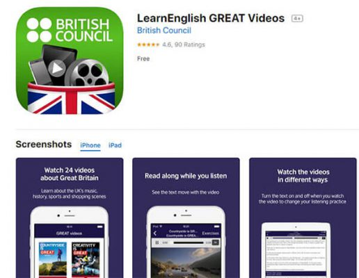 App Learn English Great Videos